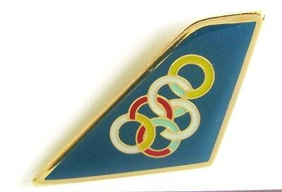 10271 Olympic Air Greek Airlines Airways Logo Aviation Plane Tail Pin Badge