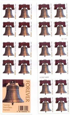 New USPS Forever Stamps Liberty Bell Booklet of 20 Free Shipping Save a PO Trip