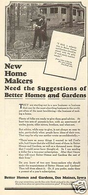 1920s antique NEW HOME MAKER House REAL ESTATE Realtor BUYING LOT Historical Ad