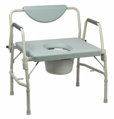 Drive Medical Deluxe Heavy Duty Bariatric Drop Arm Commode ''Gray, 1000lb'' NEW!