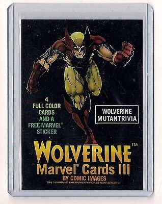 1988 Wolverine Trivia  Header card Comic Images Marvel III