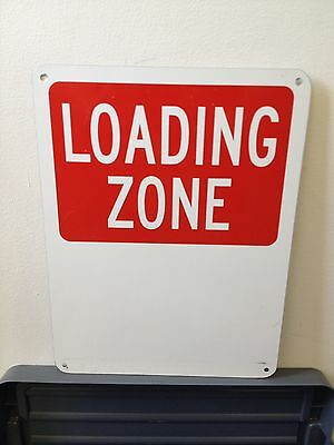 Loading Zone Metal Sign 300x225mm