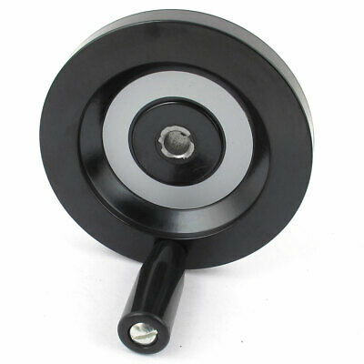 125mmx12mm Back Corrugated Removable Hand Shank Tailstock Handwheel M6 Side Hole