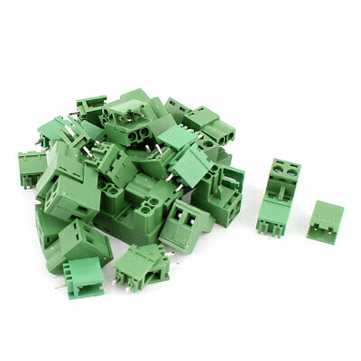 20 Pair 5.08mm Pitch Male Connector Female Socket PCB Screw Terminal Block
