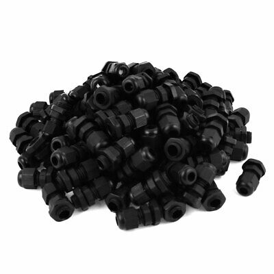 Black Plastic Waterproof Connector Cable Gland M12 3-6mmm 100 Pcs