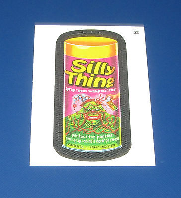 WACKY PACKAGES ANS11 CLOTH STICKER #52 SILLY THING    @@ RARE @@   NM/MT