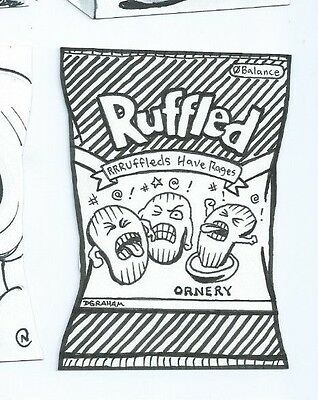 2014 Wacky Packages sketch card Dustin Graham