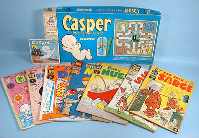 Harvey Cartoons 9 Items Casper the Friendly Ghost Baby Huey Little Dot 1950s-70s