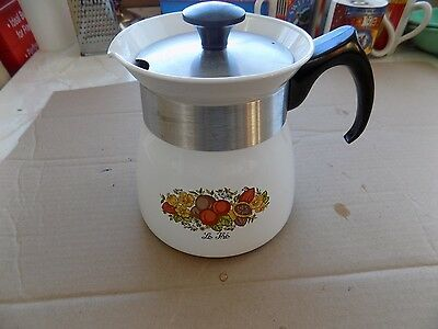 VTG Corning Ware Stove Top Coffee Pot 7 Cup Spice of Life P-107 Stove top