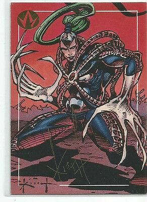 Sam Kieth Autographed Card WARBLADE WILDC.A.T.s Trading Card One of a Kind!