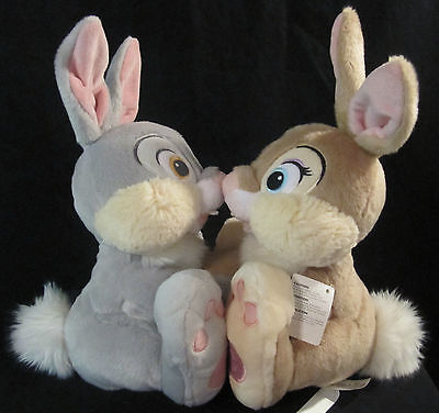 NWT Disney Store Thumper and Miss Bunny Plush Stuffed Animals From Bambi Movie