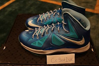 innovative design cd641 bed22 Brand New Nike Lebron 10 X+ Sports Pack Blue Diamond Sz 10.5 X +