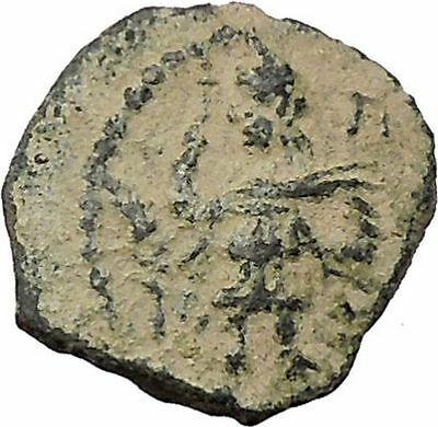 ARETAS IV & SHAQUILATH Arab Kingdom of Nabataea PETRA Ancient Greek Coin i46666