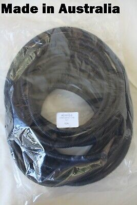 10 METRES 10mm Split Loom Corrugated Slit Tube Convoluted Conduit Cable Wire