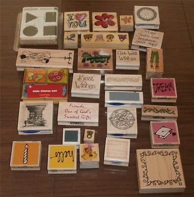 Stampin' Up!  lot of 30+ Stamps