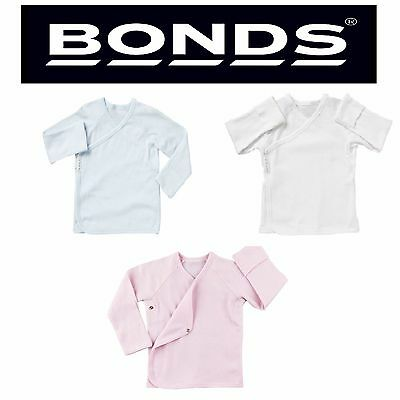 Bonds Baby Girls Boys Long Sleeve Beginnings Cardigan Wrap Top Pink Blue White