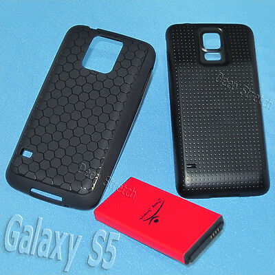 New High Capacity Extended Battery Door Cover Case f Samsung Galaxy S5 SM-G900T1