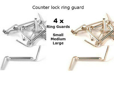 4X Counter Lock White/Yellow Gold Filled Ring Guard Size Adjuster-FOR custom fit