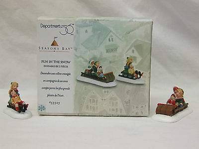 Department 56 Seasons Bay Fun In The Snow (Set Of 2) 53323
