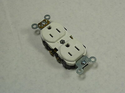 Leviton BR15-W Duplex Commercial Receptacle White 15A 125V 3W 2P  USED