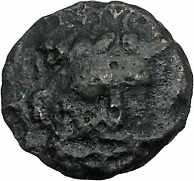 ISTROS Thrace 3-2CenBC River-god Ister Eagle Dolphin Ancient Greek Coin i46829