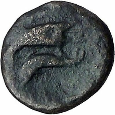 ISTROS Thrace 3-2CenBC River-god Ister Eagle Dolphin Ancient Greek Coin i46830