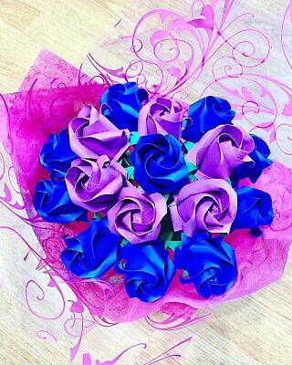 Origami rose bouquet paper flowers wedding anniversary gift
