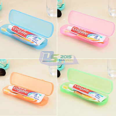 Portable Travel Hiking Camping Toothbrush &Toothpaste Protect Holder Case Box