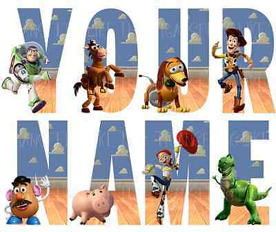 DISNEY TOYSTORY LETTER NAME WALL STICKERS DECO DECAL 3 SIZES PERSONALISED lot TS