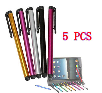 5Pcs Metal Stylus Touch Screen Pen For iPad iPhone Samsung Tablet PC iPod   CEAU