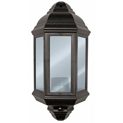 Half Lantern with PIR Black 60W - Eterna PIRHL60BK
