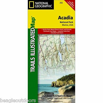 National Geographic Maine Acadia National Park Trails Illustrated Map 212