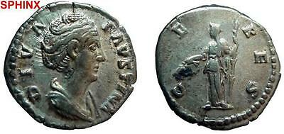 839Gm) Faustina Senior, Wife Of Antoninus Pius, Ar Denarius, Rome  Vf