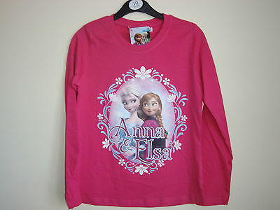 Frozen  Girls  Long  Sleeve Top AGES 2,8,10 YEARS Official Disney Licensed