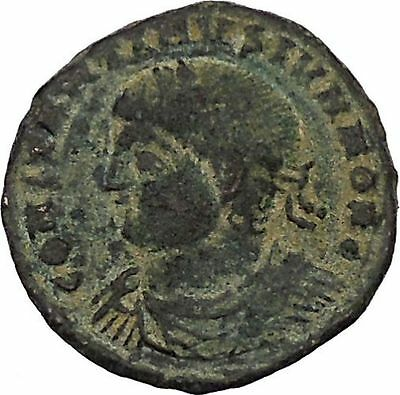 CONSTANTINE II Constantine I son Ancient Roman Coin Military Camp gate  i45857