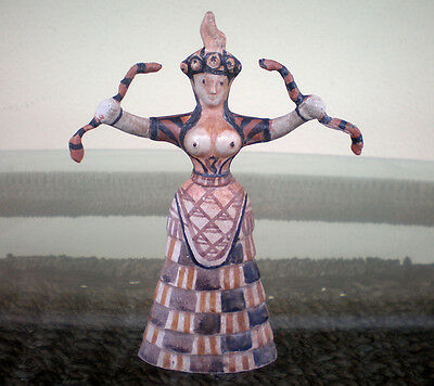 Minoan Art Small Snake Goddess - Palace of Knossos - Replica Figure