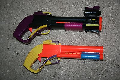 Tyco Playtime Double Shotgun Lot Party Pack Blaster Toy Foam Dart Gun RARE 1993