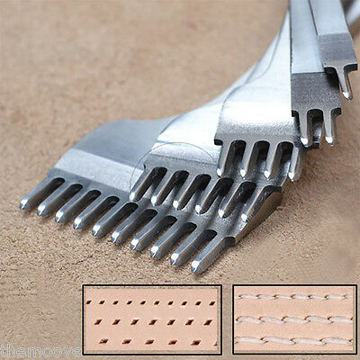 Prong Diamond Chisel Pro-line Pre Stitching Leather Craft Working Tool 4mm SET
