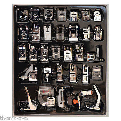 32pcs Domestic Sewing Machine Foot Feet Presser Accessories For Brother Janome