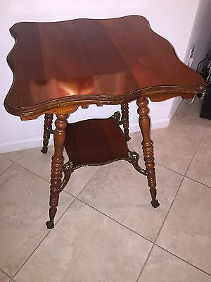 Rare Antique 1800's Victorian Parlor Table / Claw Feet / Lion Heads