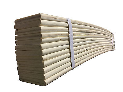 Bed Slats Brand New Replacement 6-12-24 Sprung All Sizes Available Cut To Size
