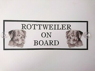 Rottweiler On Board Car Sign