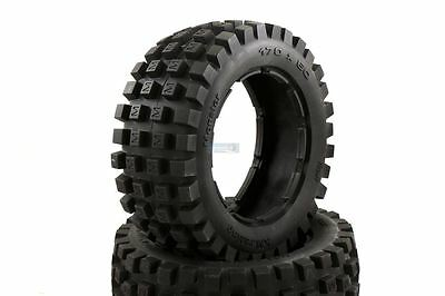 Monster Buggy Tyres Front Pair 170x60 Fits HPI Baja KM 1/5 Scale