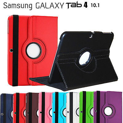 Rotate Leather Cover Flip Case for Samsung Galaxy Tab 4 10.1 (T530, T531, T535)