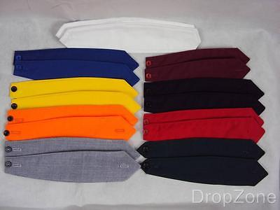 Pair of Plain Shoulder Button Down Epaulettes Assorted Colours Security Workwear