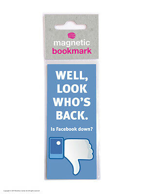 Brainbox Candy Funny Magnetic Bookmark gift present birthday facebook joke cheap