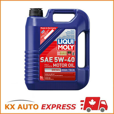 Liqui Moly Diesel High Tech SAE 5W-40 Synthetic Technology Engine Oil 5L 2022