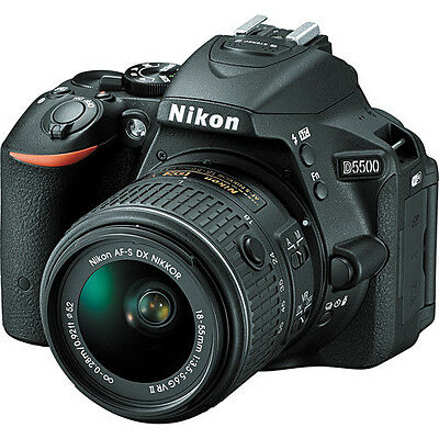 Nikon D5500 Digital SLR Camera with DX NIKKOR 18-55mm f/3.5-5.6G VR II Lens
