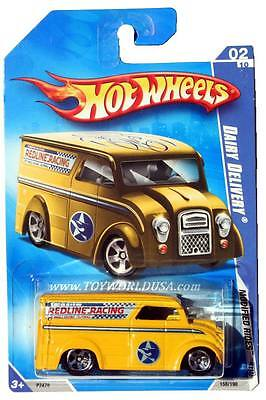 2009 Hot Wheels #158 Modified Rides Dairy Delivery yellow