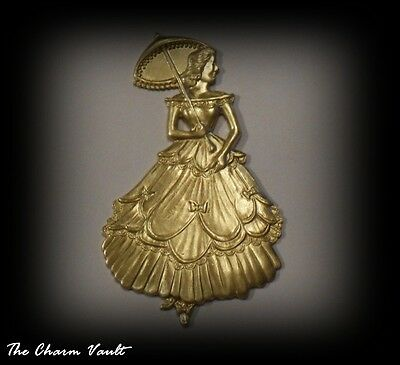 1 Nymph Victorian Women Southern Belle With Parasol Stamping Embellishment (437)